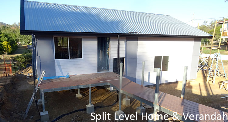 Split Level Home & Verandah